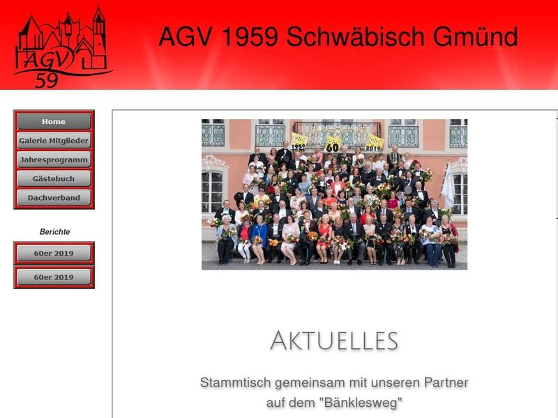 Screenshot von www.agv59.de